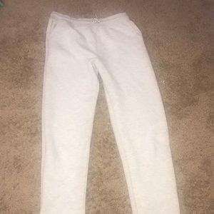 White 100%  cotton sweat pants